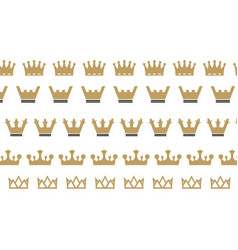 king crown logo vector image