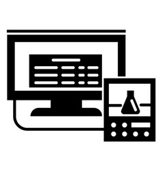 lab digital monitor icon simple style vector image