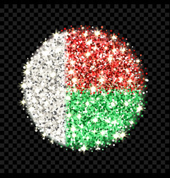 madagascar flag sparkling badge vector image
