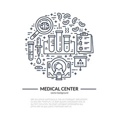 Medical research concept vector