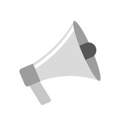Megaphone sound device icon vector