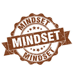 Mindset stamp sign seal vector