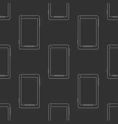 Mobile phones seamless pattern vector