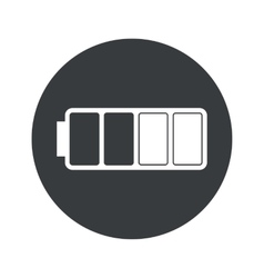 Monochrome round half battery icon vector