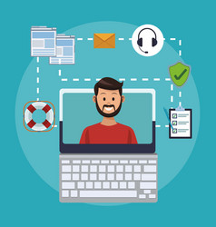 Online customer service and support vector