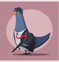 Pigeon a killer thug life vector