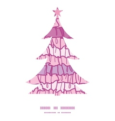 Pink ruffle fabric stripes Christmas tree vector