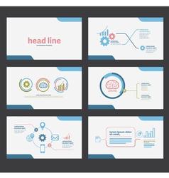 presentation template flat design set vector image