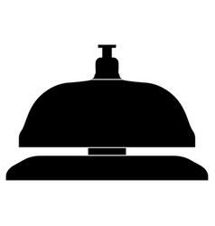 reception bell the black color icon vector image