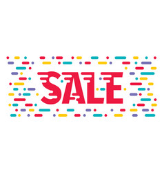 sale abstract banner design special offer poster vector image