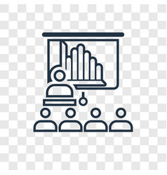seminar concept linear icon isolated on vector image