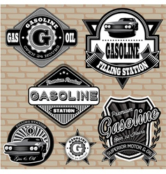 Set labels on topic gasoline vector