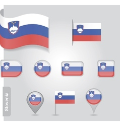 Slovenian flag icon vector image
