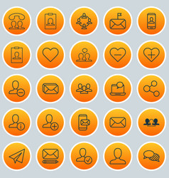 social icons set collection of identity card vector image