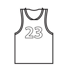 Thin line jersey icon vector