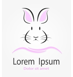 This is Rabbit logotype vector image