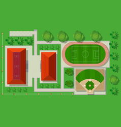Top view from above is a map city vector