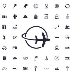 Travel around world icon vector