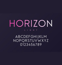 trendy minimal sans serif light font design vector image