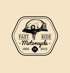 fast ride biker store logo motorcycle club sign vector image vector image