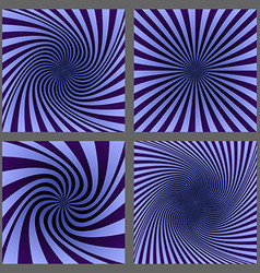 Retro spiral and ray burst background set vector image