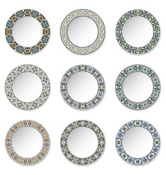 set of decorative plates vector image