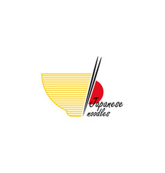 template logo for japanese noodles vector image