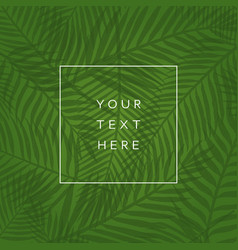 tropical leaves background vector image vector image