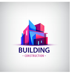 abstract building colorful logo icon vector image vector image