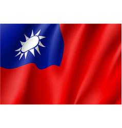 Flag of taiwan sign vector