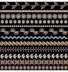 set of vintage designs of gold vector image