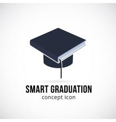 Smart Graduation Concept Icon Symbol or Logo vector image