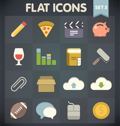 Universal Flat Icons for Applications Set vector image vector image