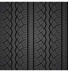 Wheel tire seamless pattern vector image