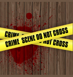 blood splattered crime scene background vector image