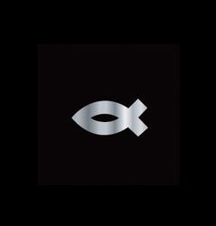 Christianity Ichthys fish vector image
