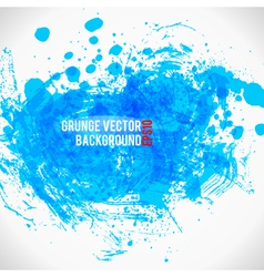 Color Paint Splashes Grunge Background Bule vector image vector image