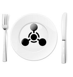 Dangerous food vector image vector image