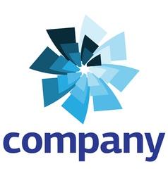 modern windmill logo vector image vector image