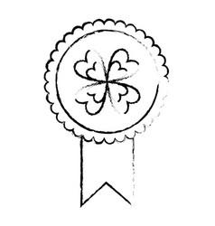 Rossette clover ornament medal success icon vector