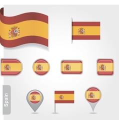 Spanish flag icon vector image