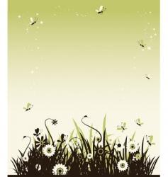 summer meadow beautiful vector image