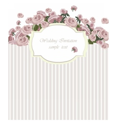 Vintage Invitation Card with Watercolor Flowers vector image vector image