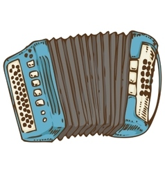 Blue Russian Bayan or Accordion vector image vector image