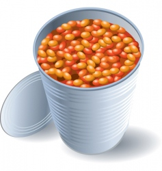 can of beans vector image vector image
