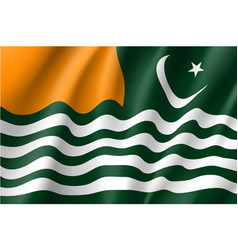 flag azad jammu and kashmir vector image