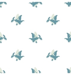 flying dinosaur on a white background vector image vector image