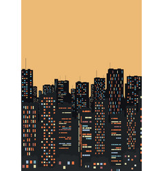 a large and beautiful city vector image