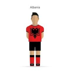 Albania football player Soccer uniform vector