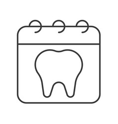 Appointment with dentist simple outline icon vector